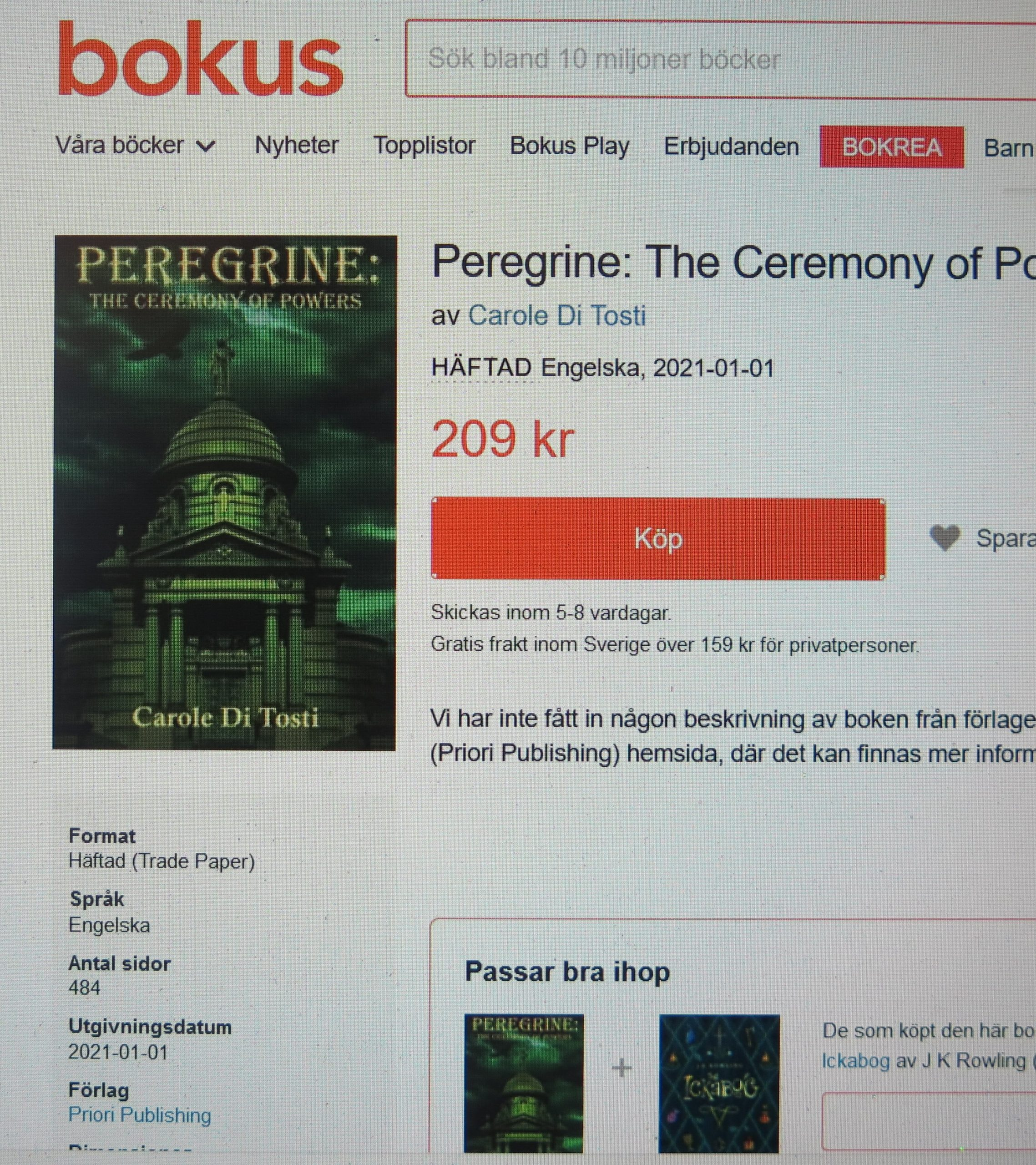 Peregrine: The Ceremony of Powers, Carole Di Tosti